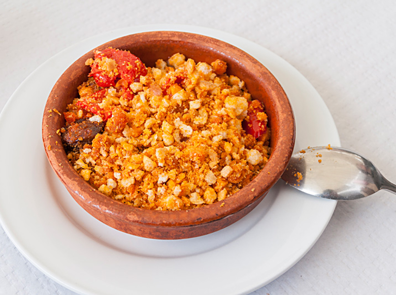 Migas, spanish food that is made of breadcrumbs