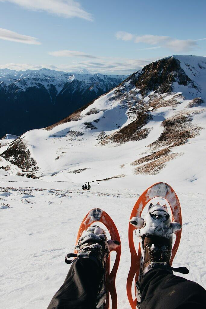 snowshoeing in Spain